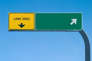 Blank freeway sign 1